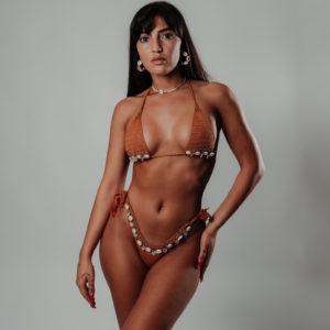 bikini set Ariimoana caramelo vue de face