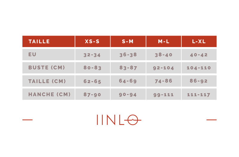 guide des tailles iinlo