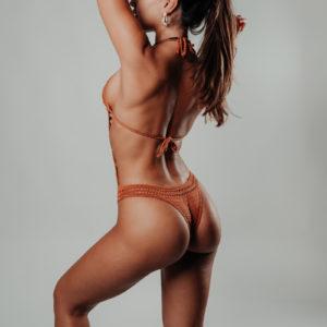 maillot de bain une pièce hamaji caramelo vue de dos