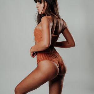 bikini set kaleho caramelo vue de profil