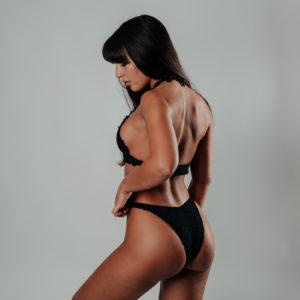 ensemble bikini hanohano classic black vue de profil