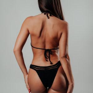 bikini une pièce hamaji classic black vue de dos