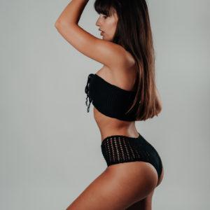 bikini set kaleho noir vue de profil
