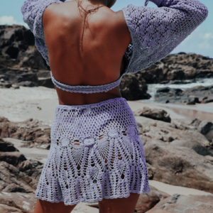 sanaa jupe vue dos plage