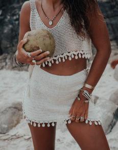 Kisiwa coconut jupe vue face plage