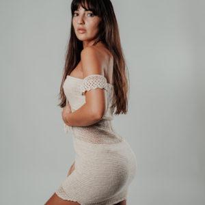 maemae robe coconut vue de profil studio