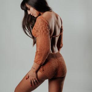 mahoa short caramelo vue profil