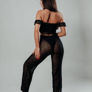 neela pantalon black vue dos