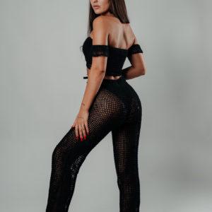 neela pantalon black vue profil