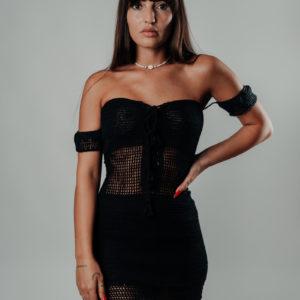 mae mae robe classic black vue de face studio
