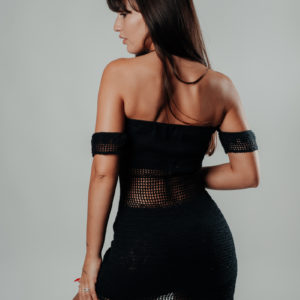 mae mae robe classic black vue de dos studio